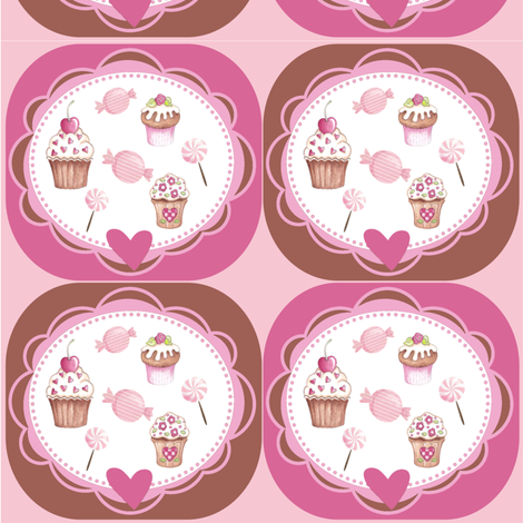 CUPCAKES&CANDY fabric by dlginc on Spoonflower - custom fabric
