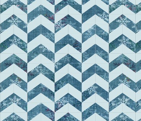 Chevron Snowflake Cheater Quilt fabric by sklick on Spoonflower - custom fabric