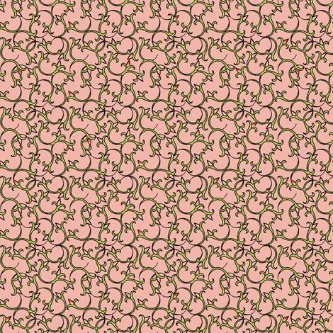 enlightened_peche fabric by glimmericks on Spoonflower - custom fabric