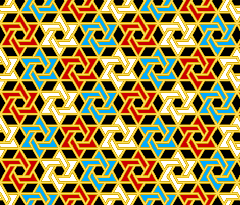 star of david - p6 filled fabric by sef on Spoonflower - custom fabric
