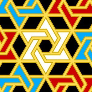 star of david - p6 filled