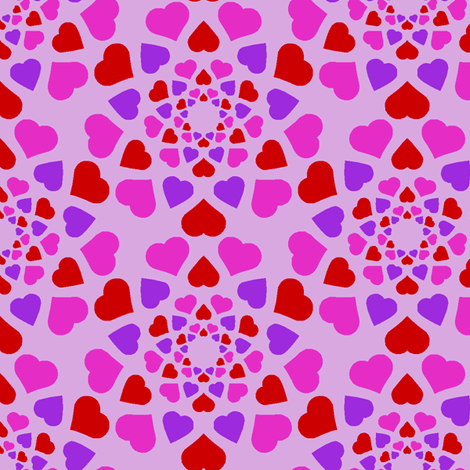 mad love fabric by sef on Spoonflower - custom fabric