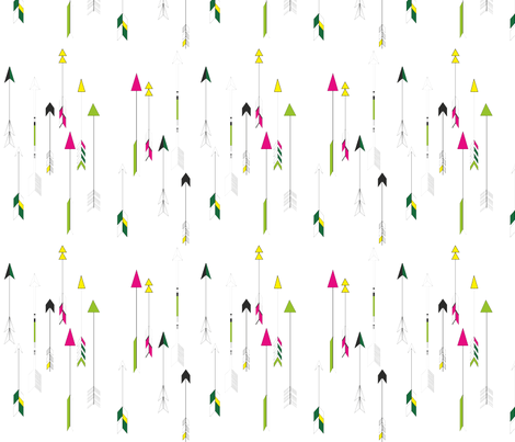 Arrows_in_Flight fabric by lynncharoenchai on Spoonflower - custom fabric