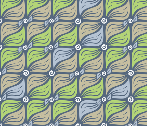 "Powderleaves (15"") fabric by penina on Spoonflower - custom fabric"