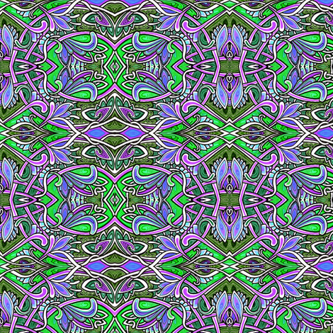When the Paisley Fairy Got Tied up in a Celtic Knot fabric by edsel2084 on Spoonflower - custom fabric