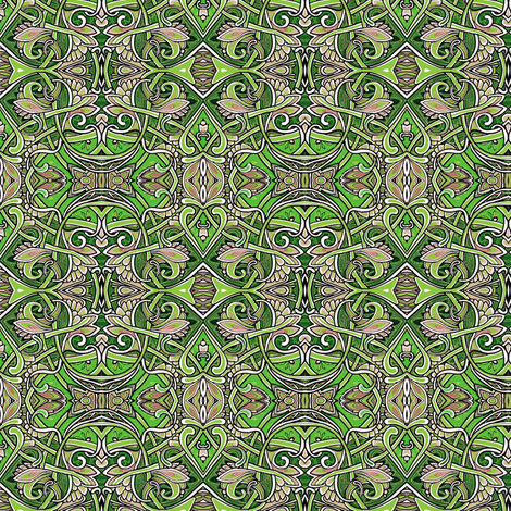Ivy League Entanglements fabric by edsel2084 on Spoonflower - custom fabric