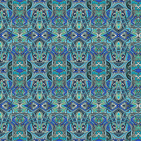 Aquamarine Fantasy fabric by edsel2084 on Spoonflower - custom fabric