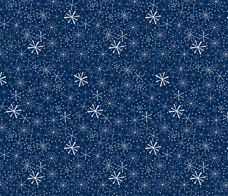 Snowflakes fabric by alexsan on Spoonflower - custom fabric