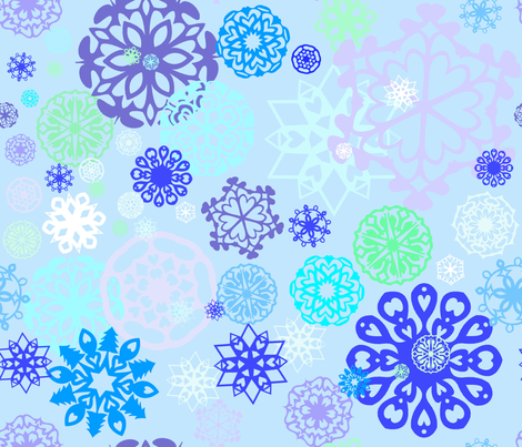 Snow storm fabric by annekul on Spoonflower - custom fabric