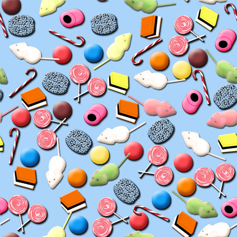 Sugar Mice and all things Nice fabric by nezumiworld on Spoonflower - custom fabric