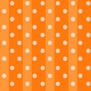 Fall Tango orange stripes dots