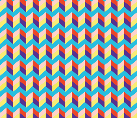 primary chevron fabric by friedbologna on Spoonflower - custom fabric