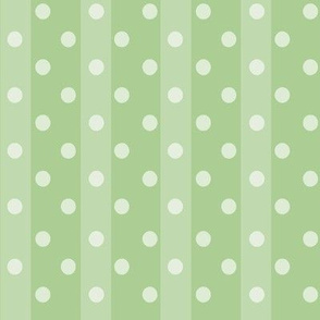 Fall Tango green stripes dots