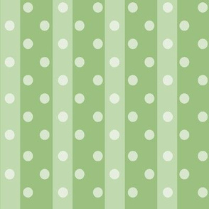 Fall Tango green dark stripes dots