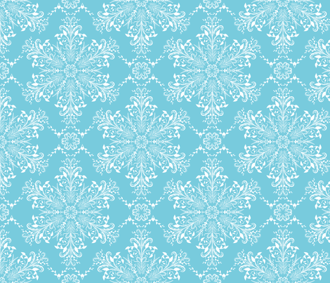victorian Snowflakes fabric by diane555 on Spoonflower - custom fabric
