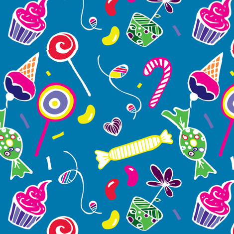 Sweet candy fabric by leska_hamaty_design on Spoonflower - custom fabric
