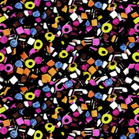 liquorice all sorts fabric by kociara on Spoonflower - custom fabric