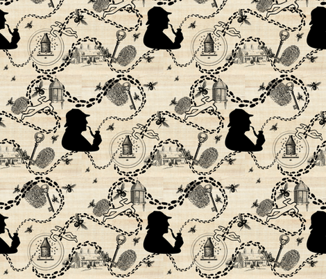 The Case of the Sussex Beekeeper  fabric by marchhare on Spoonflower - custom fabric