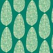 Polynesian, turquois-ch