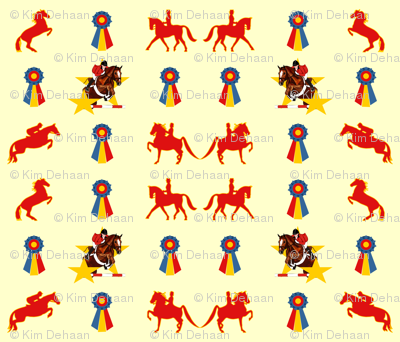 English_Show_Horses_and_Ribbons