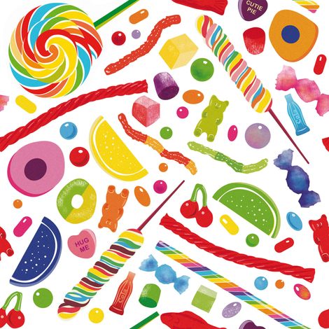 Candy Pop fabric by clemency_brown on Spoonflower - custom fabric