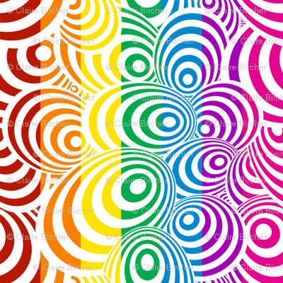 Psychedelic Zebra Rainbow