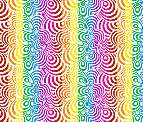 Psychedelic Zebra Rainbow fabric by glanoramay on Spoonflower - custom fabric