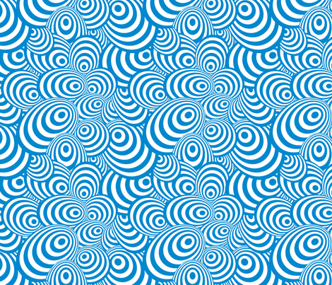 Psychedelic Zebra Blue fabric by glanoramay on Spoonflower - custom fabric