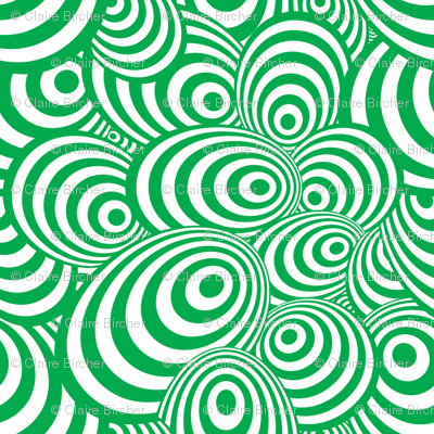 Psychedelic Zebra Green