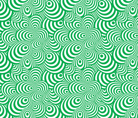 Psychedelic Zebra Green fabric by glanoramay on Spoonflower - custom fabric