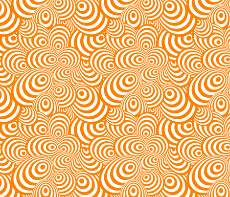 Psychedelic Zebra Orange fabric by glanoramay on Spoonflower - custom fabric