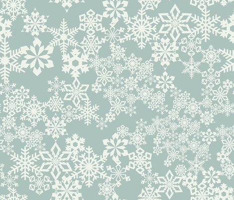 Snowflakes fabric by kimsa on Spoonflower - custom fabric