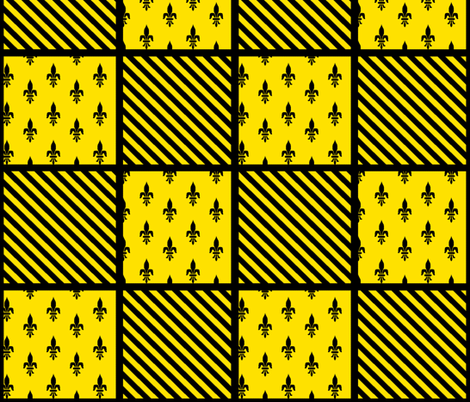 Hufflepuff fabric by annekul on Spoonflower - custom fabric