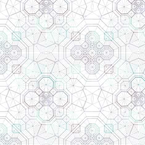 Structural Snowflake fabric by candyjoyce on Spoonflower - custom fabric