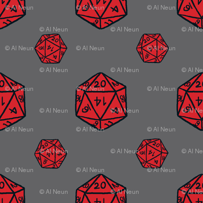 Red/Gray d20s