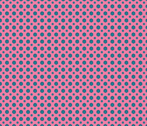 Bubblegum d20 fabric by pi-ratical on Spoonflower - custom fabric