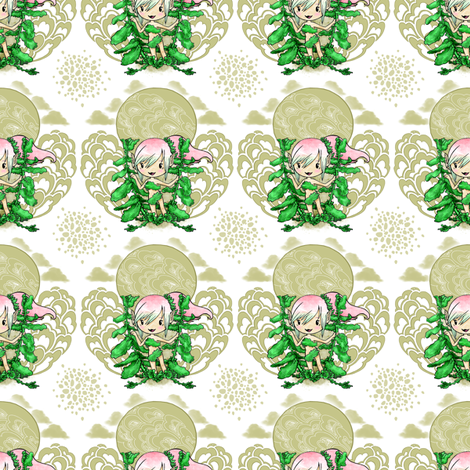 Elf  Among Mint fabric by harleenquinzel on Spoonflower - custom fabric