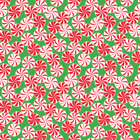Peppermint Party fabric by jjtrends on Spoonflower - custom fabric