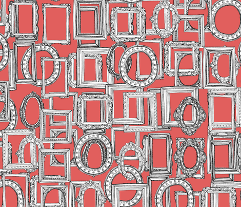 picture frames aplenty coral fabric by scrummy on Spoonflower - custom fabric