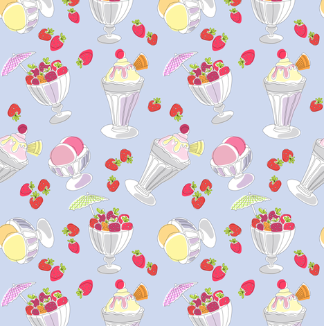 strawberry_sundae fabric by valley_designs on Spoonflower - custom fabric