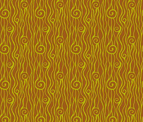 curly pine tree fabric by keweenawchris on Spoonflower - custom fabric