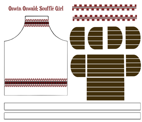 Oswin Oswald: Soufflé Girl fabric by jennofalltrades on Spoonflower - custom fabric
