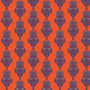 African woman – orange and plum