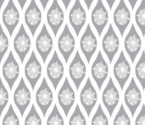 Modern Grey and White fabric by emilyannstudio on Spoonflower - custom fabric