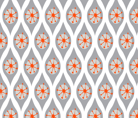 Modern Grey and Orange fabric by emilyannstudio on Spoonflower - custom fabric