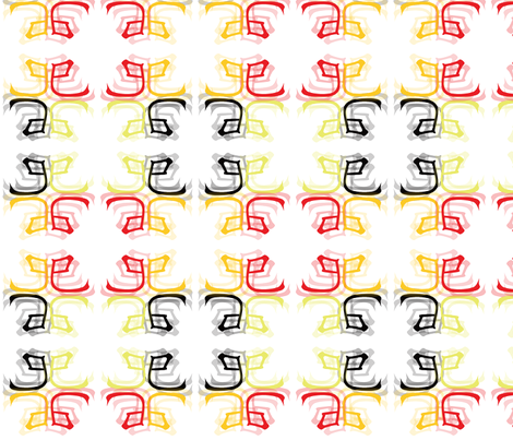 Year of the Snake fabric by pink_koala_design on Spoonflower - custom fabric