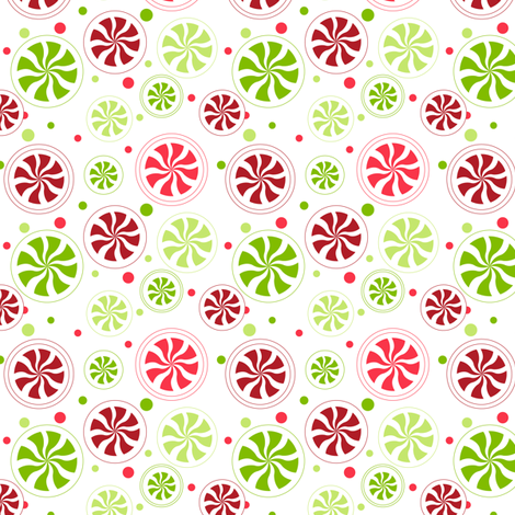 Pepperminty fabric by bethanysdesigns on Spoonflower - custom fabric