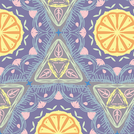 Purple Lemon  fabric by raindrop on Spoonflower - custom fabric