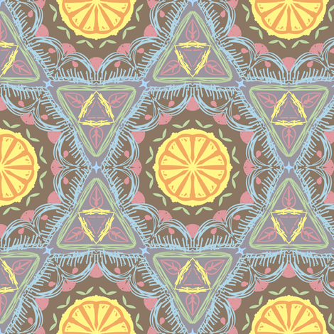 colorful Lemon  fabric by raindrop on Spoonflower - custom fabric