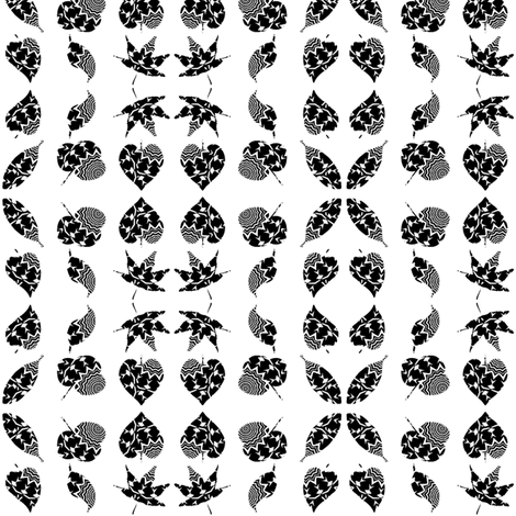 Zebra Zesty Z-Leaves 2 fabric by dovetail_designs on Spoonflower - custom fabric